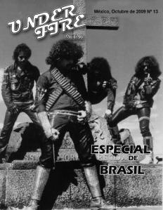 Under Fire Metal fanzine No. 13 Zombie Ritual Fanzine