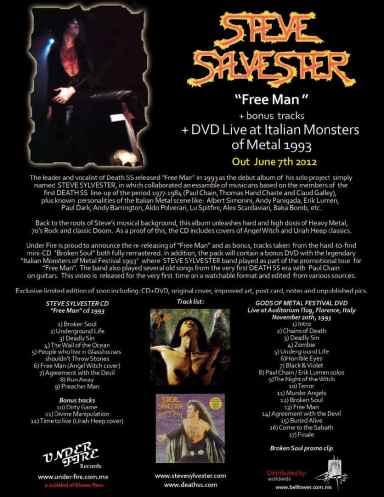 Steve Sylvester free man plus Bonus