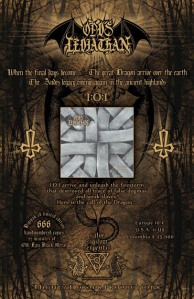 Opus Leviathan flyer black metal