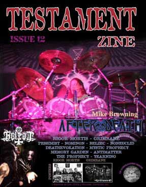 Testament zine issue 12 cover review at Zombie Ritual Zine