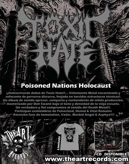toxic hate flyer promo at Zombie Ritual Zine
