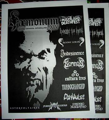 Daemonum zine 14 ad at Zombie Ritual Zine