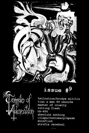 Temple of Adoration Zine 9 at Zombie Ritual Fanzine