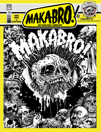 MAKABRO ad at Zombie ritual zine
