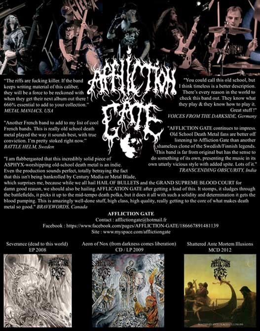 Affliction Gate Promo flyer at Zombie Ritual Zine
