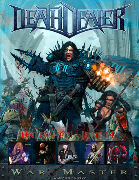 Death Dealer cover art at Zombie Ritual Zine