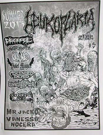 Leukoplakia Zine 3 out now ad at Zombie Ritual Zine