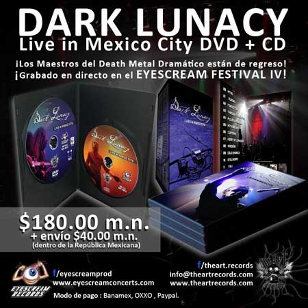 Dark Lunacy Live in Mexico City DVD and CD
