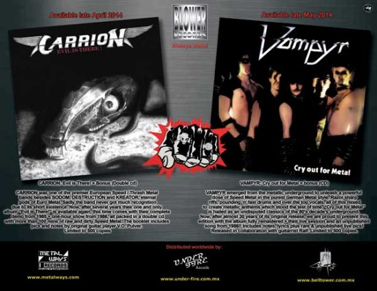 Carrion and Vampyr at Blower Records