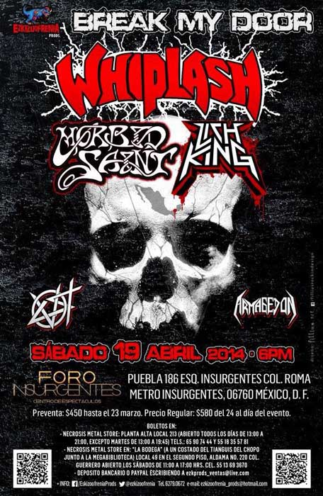 Whiplash Morbid Saint Mexico 2014