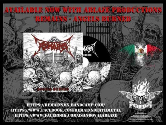 Remains death metal flyer release