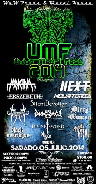 Union Metal Fest 2014 flyer