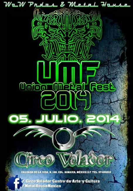 Union Metal Fest 3 edition flyer in 2014