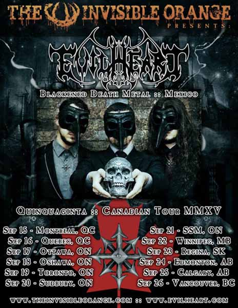 Evilheart Quinquaginta Canadian Tour MMXV