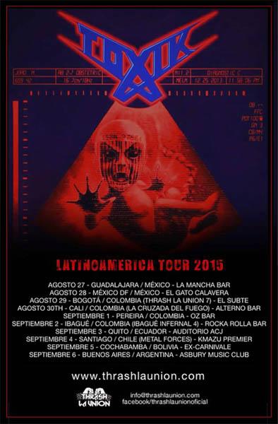Toxik Latinoamerica Tour 2015