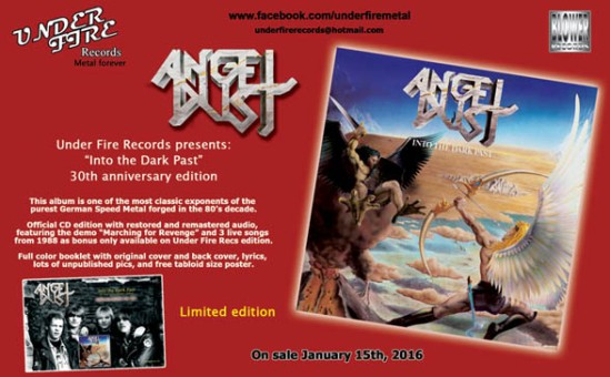 Flyer Angel Dust Under Fire Records